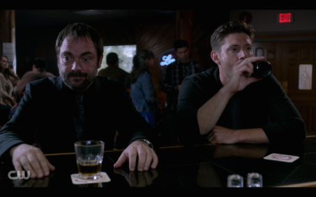 One of many times Crowley and Dean will drink together this season