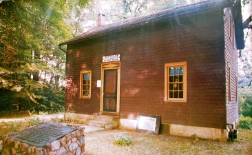 The cottage where Margaret and Katie Fox first communicated with spirits.
