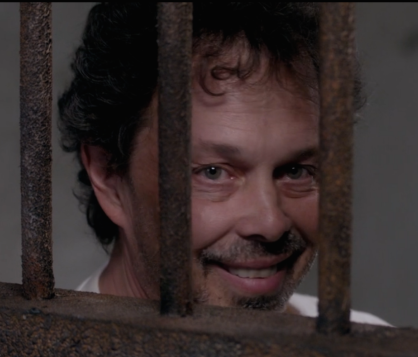 Metatron being creepy behind bars