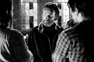 Maggie, Rick, and Glenn make plans