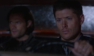 """Expressing their feelings the only way the Winchesters know how - in the car. Supernatural Season 10 Episode 4 """"Paper Moon"""""""