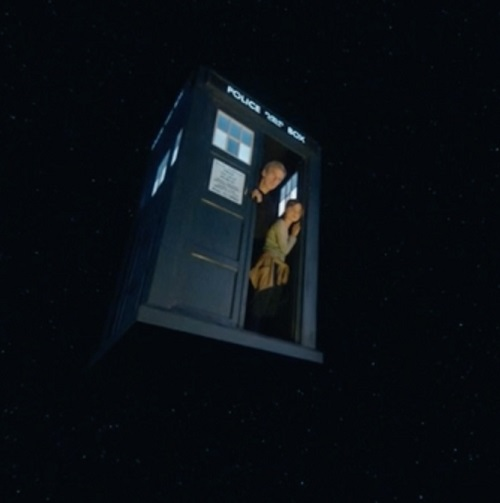 wathcing solar flare from tardis