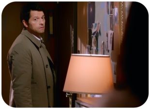 Castiel looking uncomfortble