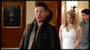 Dean stumbles upon Sam and the ladies