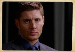 Dean looks straight at the camera to share his disapproval with us.