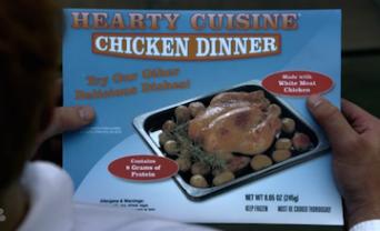 Frozen chicken dinner