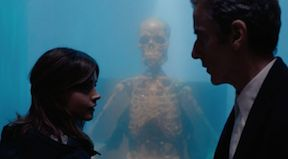 Clara and the Doctor in the water mausoleum