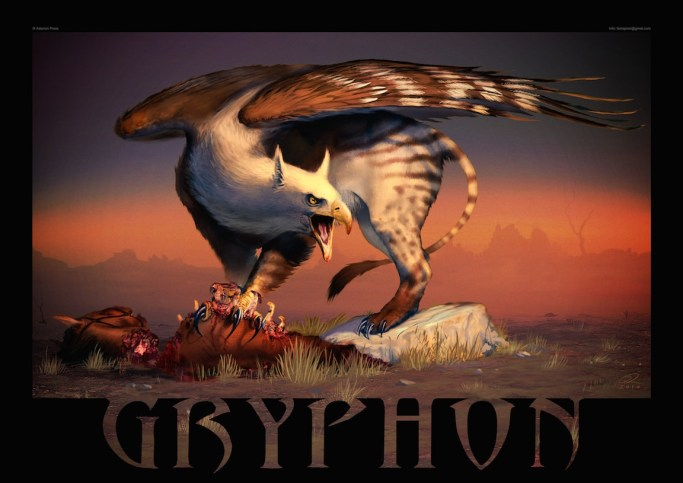 Gryphon by Akeiron on deviantART. Griffins maintain a love/hate relationship with horses.