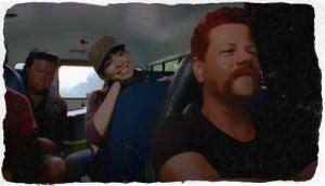 happy on the bus pixlr