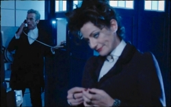 Missy tells the Doctor he would go to Hell for Clara if she asked him to