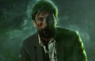 Homicide Detective Jim Corrigan looking unwell.