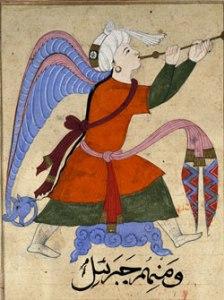 Gabriel in The Wonders of Creation and the Oddities of Existence, Zakariya Qazwini, 1270