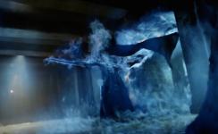 Lamashtu goes up in blue flames
