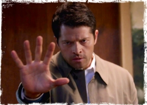 Castiel uses his angel powers to save Claire