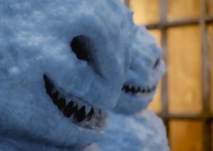 evil snowmen in front of window pix cw