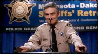 Sheriff Len Cuse seems nervous as all get-out. Uff-da.