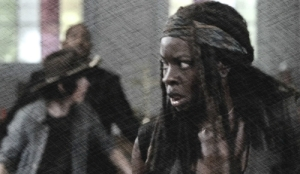 michonne in church pix pencil 2