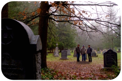 sam bobby dean at rufus grave part stone pix round