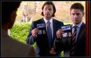 10p Sam Dean Winchester Agents Collins Gabriel There's No Place Like Home Supernatural