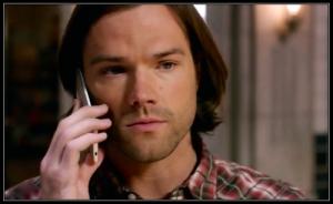 Sam Winchester Jared Padalecki calls Castiel from the Men of Letters Bunker