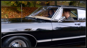 Sam (Jared Padalecki) and Dean Winchester (Jensen Ackles) wait in the Impala (Baby)