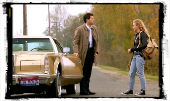 Claire says good-bye for now to Cas