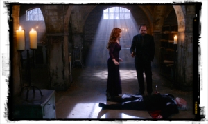 Is Crowley falling for his mother's schtick?
