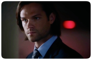 7p Sam Winchester angry in bar About a Boy Supernatural