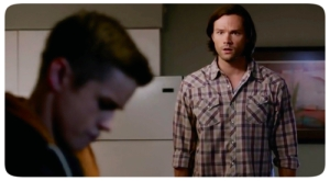 9p Sam shocked to see young Dean winchester about a boy supernatural