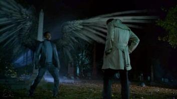 Manny landing in cemetery