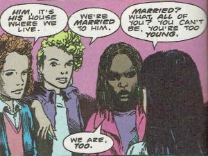The married girls talk to Gemma. Hellblazer #4