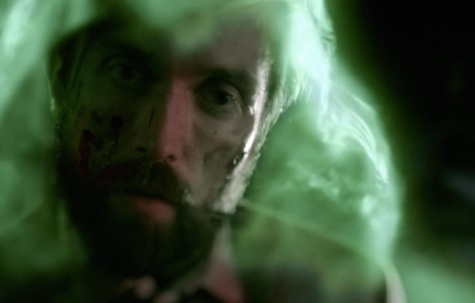 Give us a kiss! Corrigan in one of Zed's visions as the Spectre