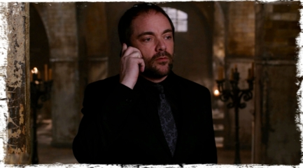 Dean calls Crowley, asking him to bring the First Blade