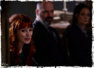 Rowena has some thoughts to share in Crowley's court