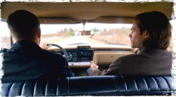 "Sam and Dean play the serial murderer trivia game in the Impala during Supernatural Season 10 Episode 14 ""The Executioner's Song"""