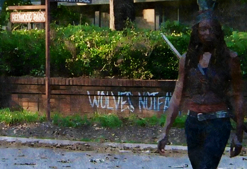 s Wolves Not Far Michonne The Walking Dead what happened and whats going on