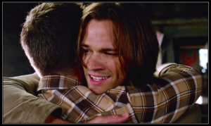 Sam hugs Dean talk about kevin supernatural pix