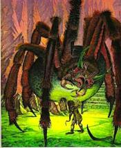Shelob and Sam by Roger Garland