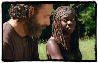 RIck Michonne The distance The walking Dead
