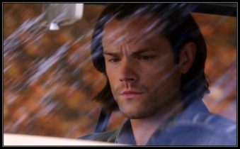 "Sam reads up on Charlie's file in the Impala. Supernatural Season 10 Episode 11 ""There's No Place Like Home"""