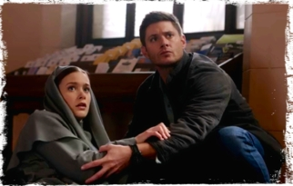 Dean protects Sister Mathias Supernatural Paint it Black