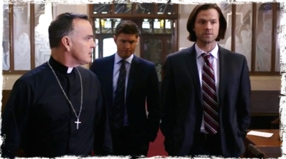 pg Father Delaney Sam Dean Supernatural Paint it Black
