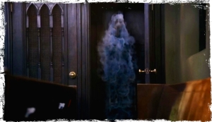 Ghostly Isabella follows Dean out of the confessional