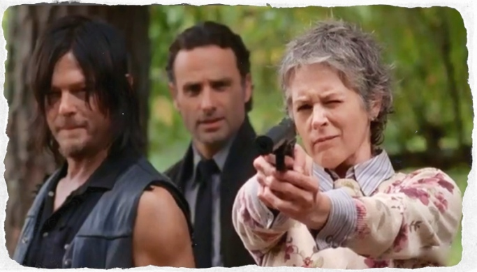 Daryl Rick Carol shoot walker The Walking Dead Forget