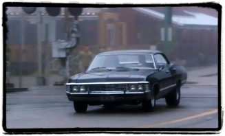 Impala crossing Supernatural The Things They Carried