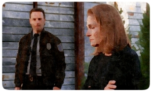 Deanna tells Rick they don't execute people in Alexandria