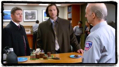 Dean can't resist birthday cake