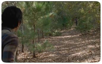 Glenn follows Nick outside the walls