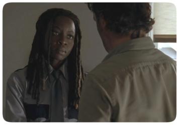 Rick apologizes to Michonne