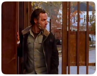 Rick realizes a walker has gotten into Alexandria